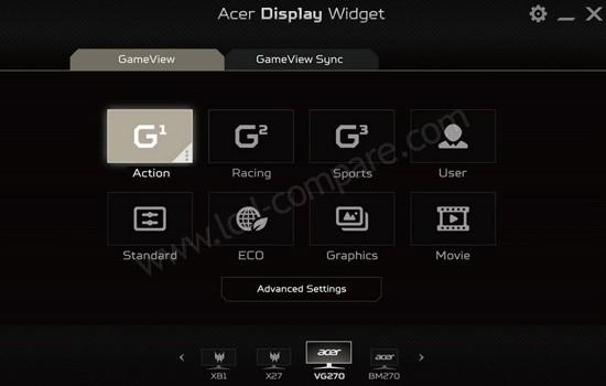 Acer Display Widget