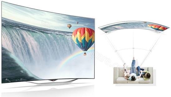Présentation photo du téléviseur oled incurvé lg 55ec930v