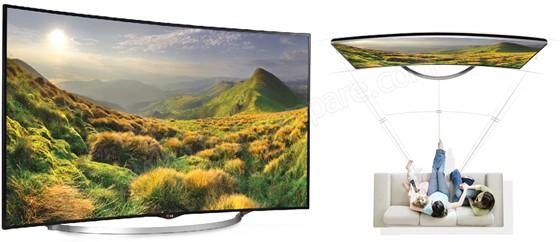 LG 55UC970V : Téléviseur incurvé (crédit : LG)