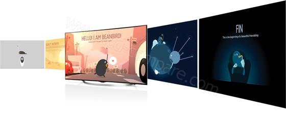 LG 55UC970V : Smart TV avec WebOS (crédit : LG)