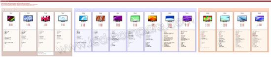 line-up LG lcd led 2011