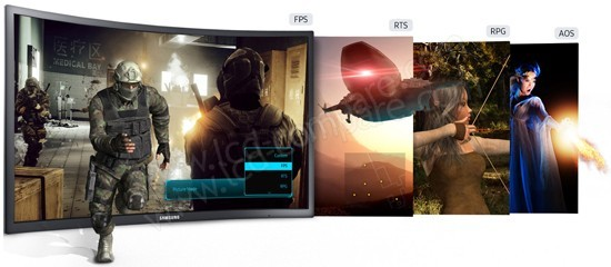 Samsung C27FG70 : Modes de jeu prédéfinis