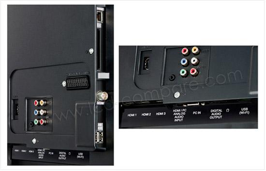 Sharp LC-40LE730E : Connectique