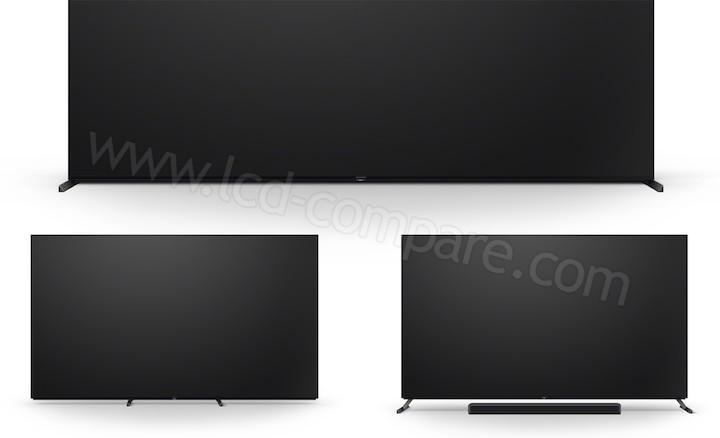 Série Sony X95J - Pied triple position