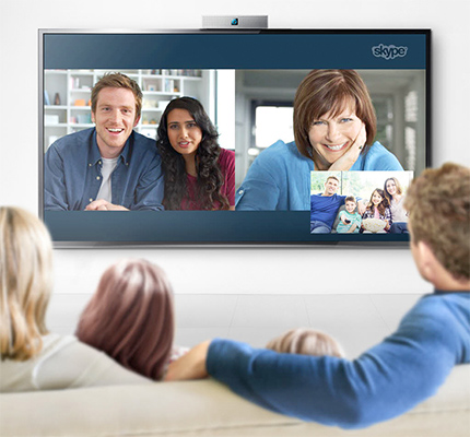 Skype sur une TV connectée