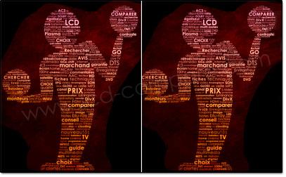 Illustration d'une image 3D côte à côte