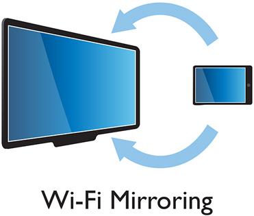 Philips Smart TV : Wi-Fi Mirroring