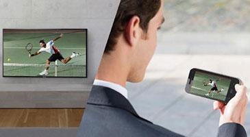 Partage de contenus à l'extérieur entre une TV connectée Panasonic TV Anywhere et un appareil mobile