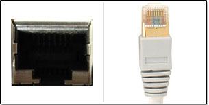 prise ethernet et câble RJ45