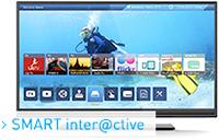 Logo Smart TV Grundig Smart inter@ctive TV