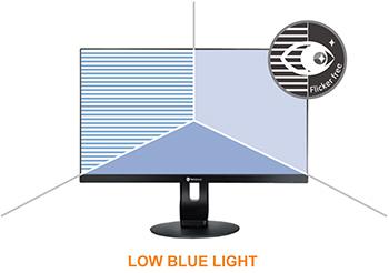 Visuel représentant le filtre de lumière bleue Low Blue Light des écrans AG Neovo