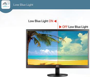 Visuel présentant la fonction Low Blue Light d'AOC