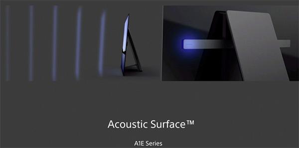 Visuel du système audio Acoustic Surface présent à l'arrière des TV OLED Sony A1