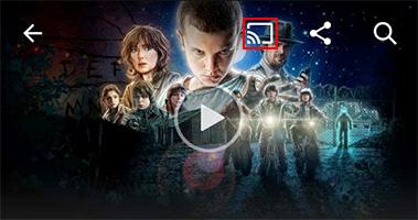 Visuel du raccourci Google Cast dans l'application Netflix