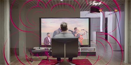 Visuel représentant le son surround d'une TV