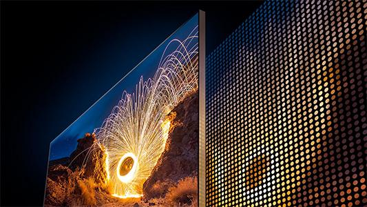 Visuel représentant le dispositif Full LED Local Dimming Platinum présent dans certaines TV Samsung