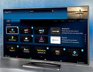 Visuel représentant l'application Cloud TV accessible à partir de certaines TV Philips