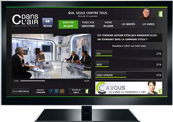 Services interactifs HbbTV proposés en direct durant une émission