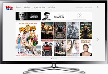 Service MYTF1VOD accessible sur certains modèles de TV compatibles HbbTV 1.5