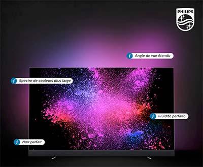 Photo d'une TV OLED - (crédit : Philips)