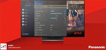 Illustration d'une TV OLED Panasonic 2019 avec mode Netflix Calibrated - (crédit : Panasonic)
