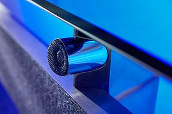 Photo du tweeter top présent sur le système audio de la TV OLED+984 de Philips - (crédit : Tp Vision)