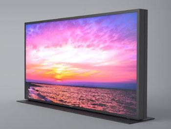 Photo du prototype de TV MegaCon avec double dalle - (crédit : Panasonic)