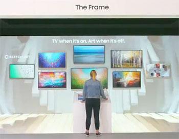 Photo des TV The Frame à l'IFA 2019 - (crédit : Samsung)