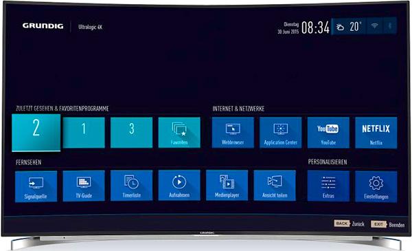 Les TV Grundig Ultra HD 4K Ultralogic durant l'IFA 2015