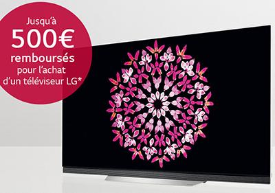 Jusqu'à 500€ remboursés pour l'achat de certaines TV Ultra HD LG