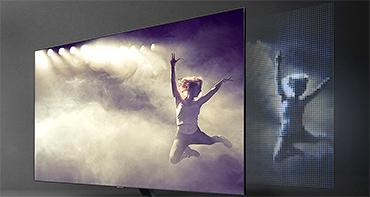 Illustration de la technologie Direct Full Array des TV Samsung QLED 2018