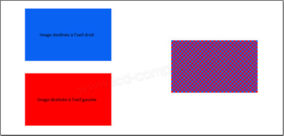 Illustration image 3D damier