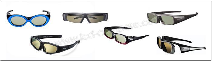 Exemple de lunettes pur TV 3D