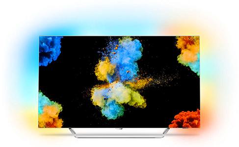 Visuel de la TV OLED Philips 55POS9002 de la gamme 2017