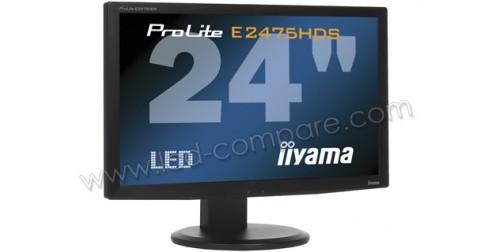 iiyama prolite e2475hds b1 24 pouces fiche technique. Black Bedroom Furniture Sets. Home Design Ideas
